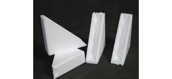 Triangular Moulded Polystyrene Corner Protection